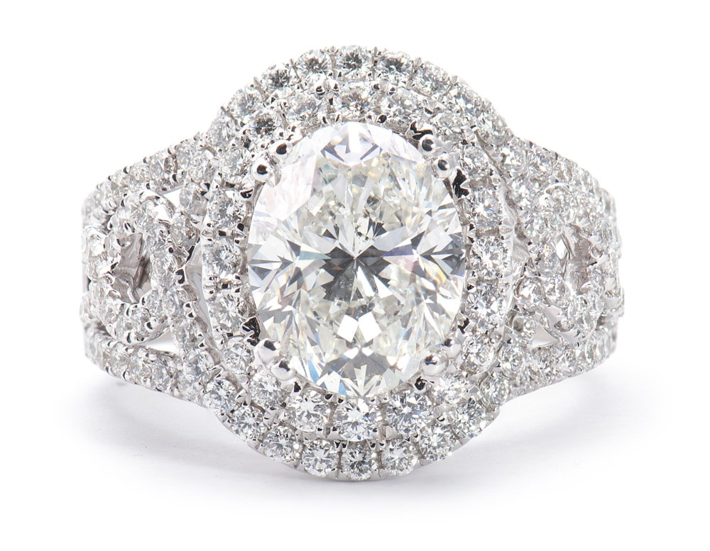 18kt White Gold Double Halo Engagement Ring