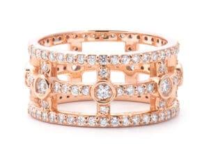 14kt Rose Gold Eternity Fashion Ring
