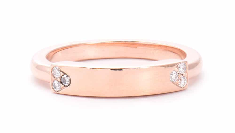 14kt Rose Gold Fashion Ring with Diamonds