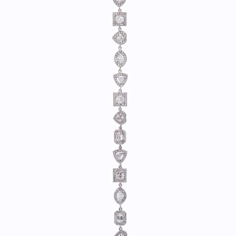 14kt White Gold Halo Fashion Bracelet