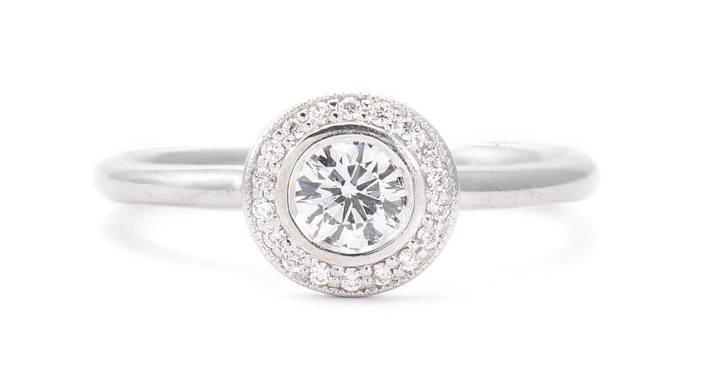 14kt Bezel Set Engagement Ring