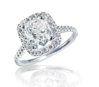 B Loved Custom Diamond Halo Engagement Ring