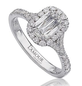 L'Amour Crisscut Engagement Ring