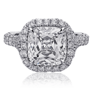 Christopher Designs Crisscut Cushion Diamond Engagement Ring