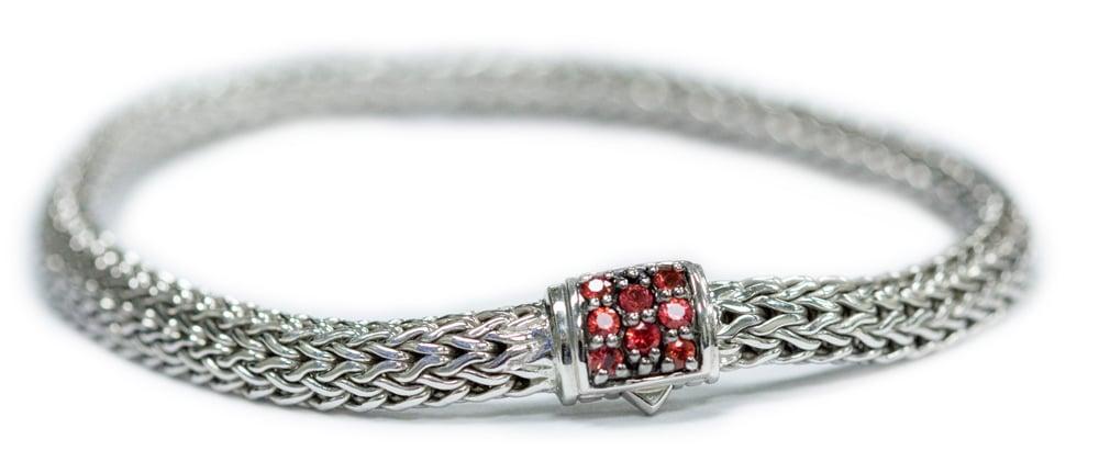 Sterling Silver Red Sapphire Lava Bracelet by John Hardy