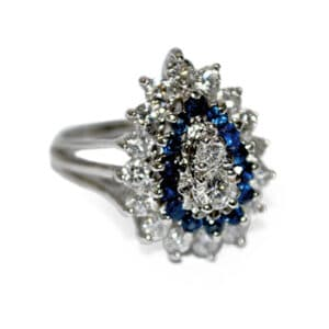 Blue Sapphire Estate Jewelry Ring