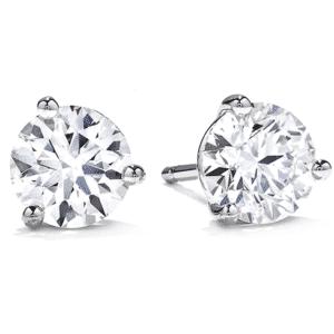 Martini Diamond Earring Studs