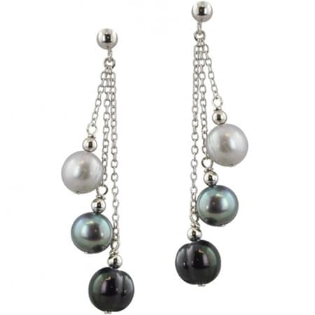 Cultured Pearl Multi Dangle Earrings