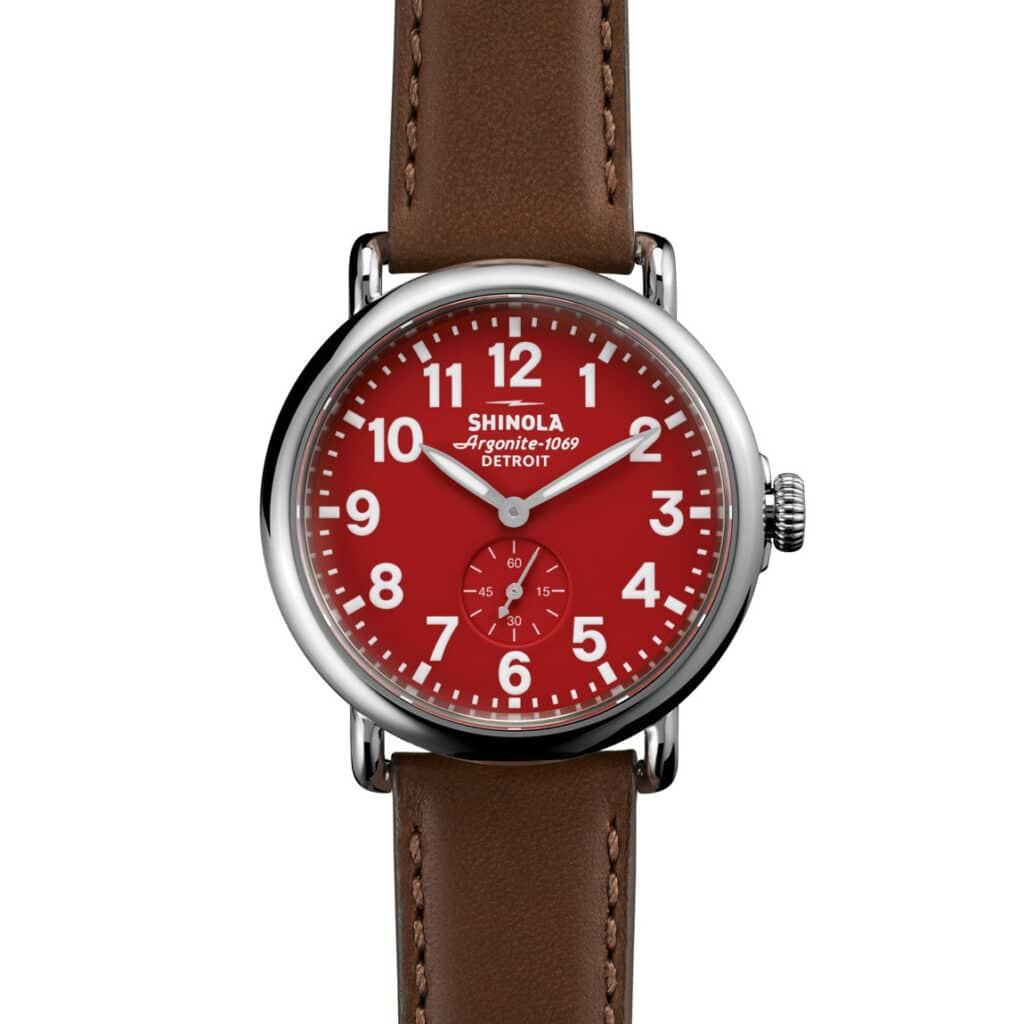 Runwell Sub Second Shinola – Red
