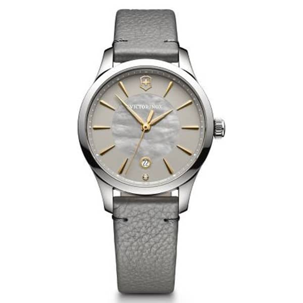 Ladies Stainless Steel Gray/Mother of Pearl Index Dial Alliance