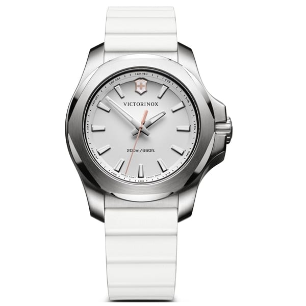 Stainless Steel White Index Dial Inox V