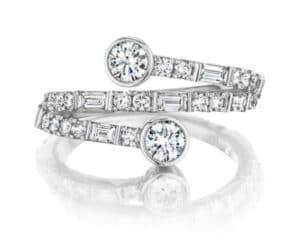 """""""You & Me"""" Deco Curve Ring"""