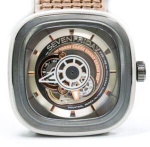 Silver, Black, and PVD Rose Gold Stainless Steel P-Series SevenFriday Watch