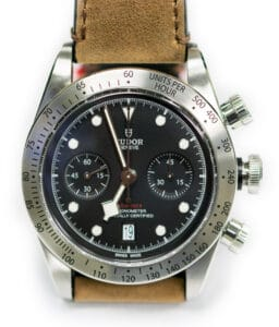 Stainless Steel Tudor Black Bay Chrono Watch