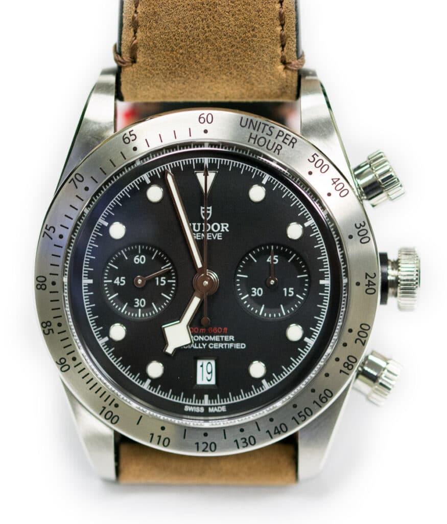 Stainless Steel Tudor Black Bay Chrono Watch