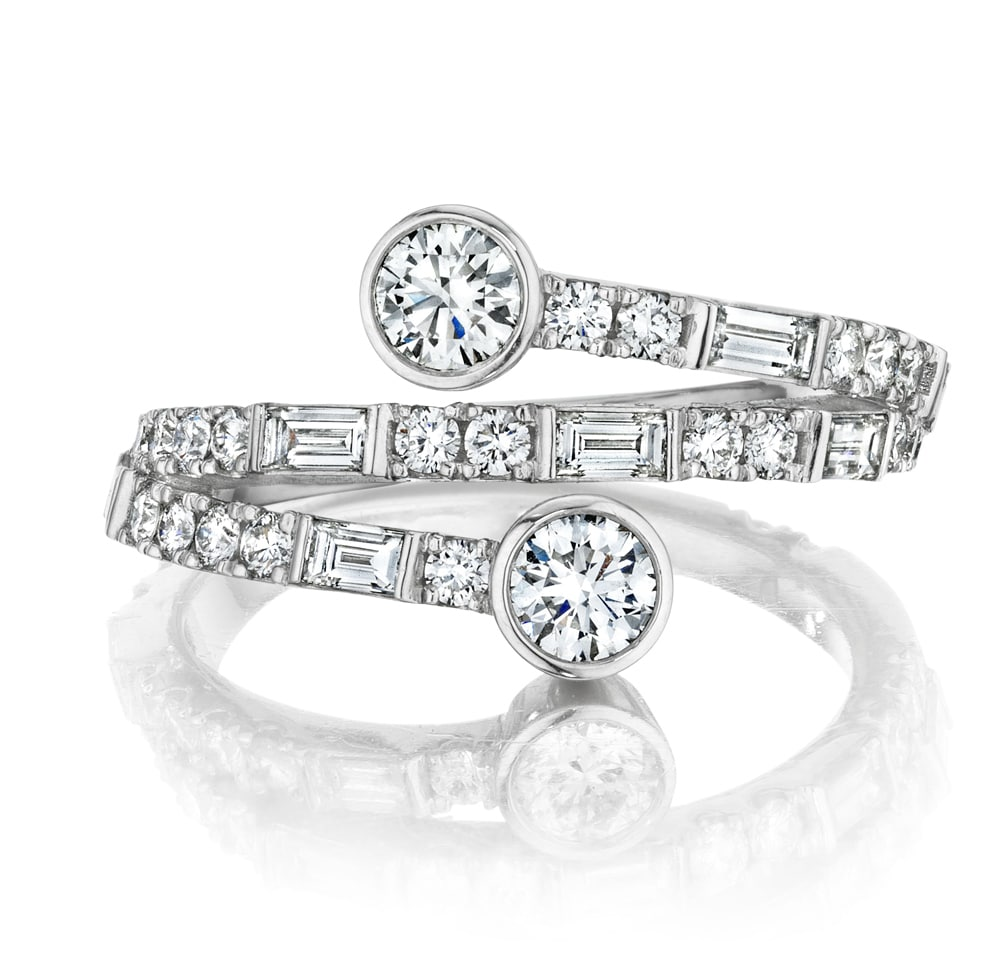 'You & Me' Deco Curve Ring