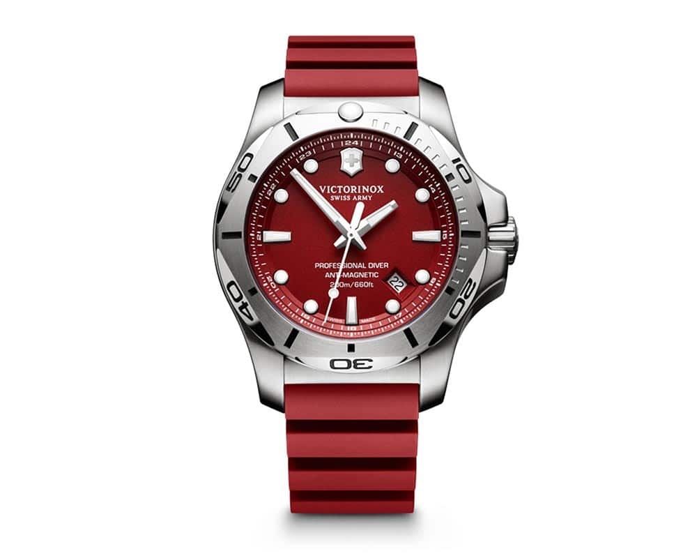 Stainless Steel Red Index Dial INOX Professional Diver