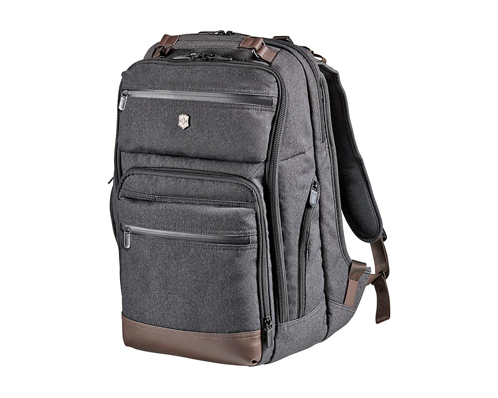 Gray/Brown Architecture Urban Rath Slim Backpack