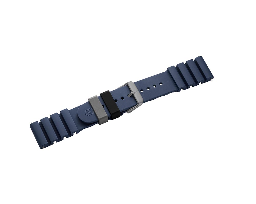 Inox Pro Diver Blue Rubber Watch Strap