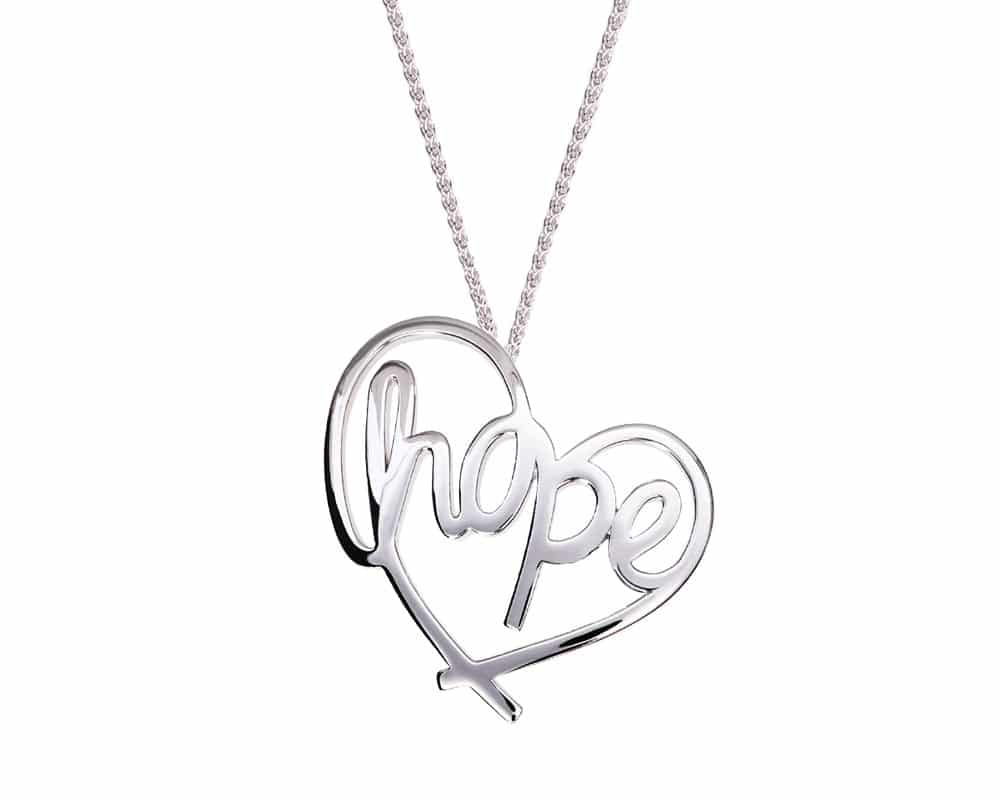 Heart Lines™ My Heart, My Hope Pendant Sterling Silver