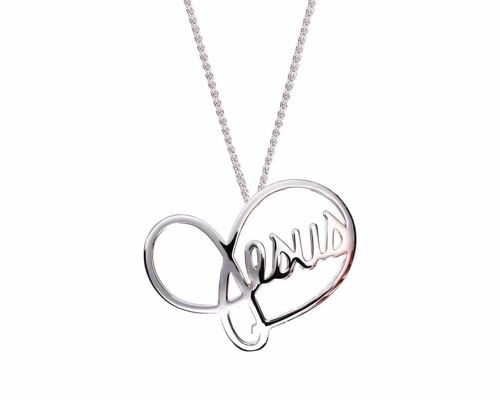 Heart Lines™ My Heart, My Jesus Pendant Sterling Silver