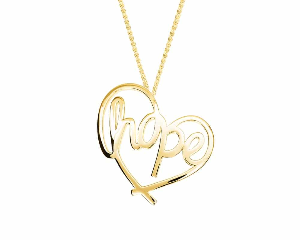 Heart Lines™ My Heart, My Hope Pendant 14kt Yellow Gold