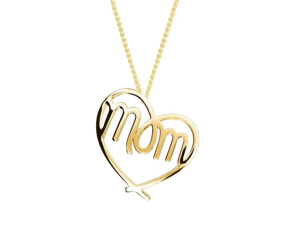 Heart Lines™ My Heart, My Mom Pendant 14kt Yellow Gold