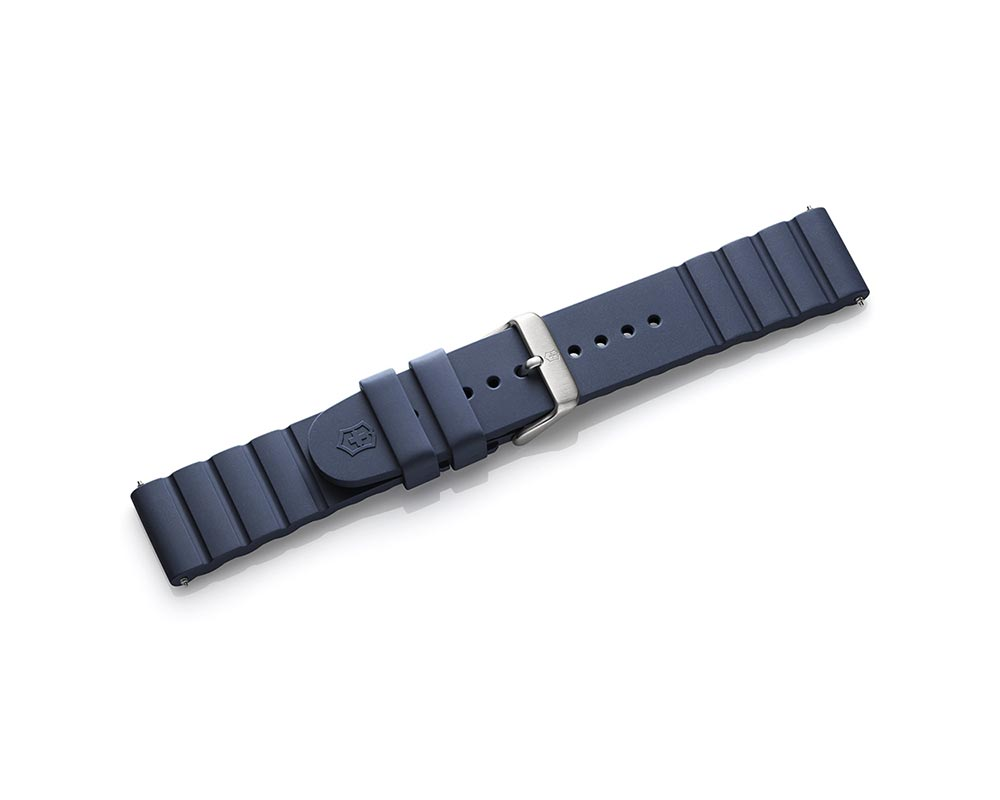 21Mm Blue Rubber INOX Watch Strap