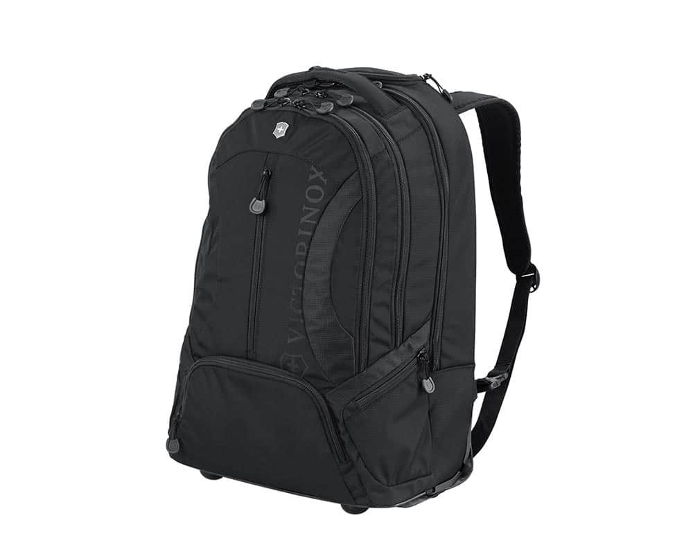 VX Sport Black Wheeled Scout Backpack/Carry On Hybrid