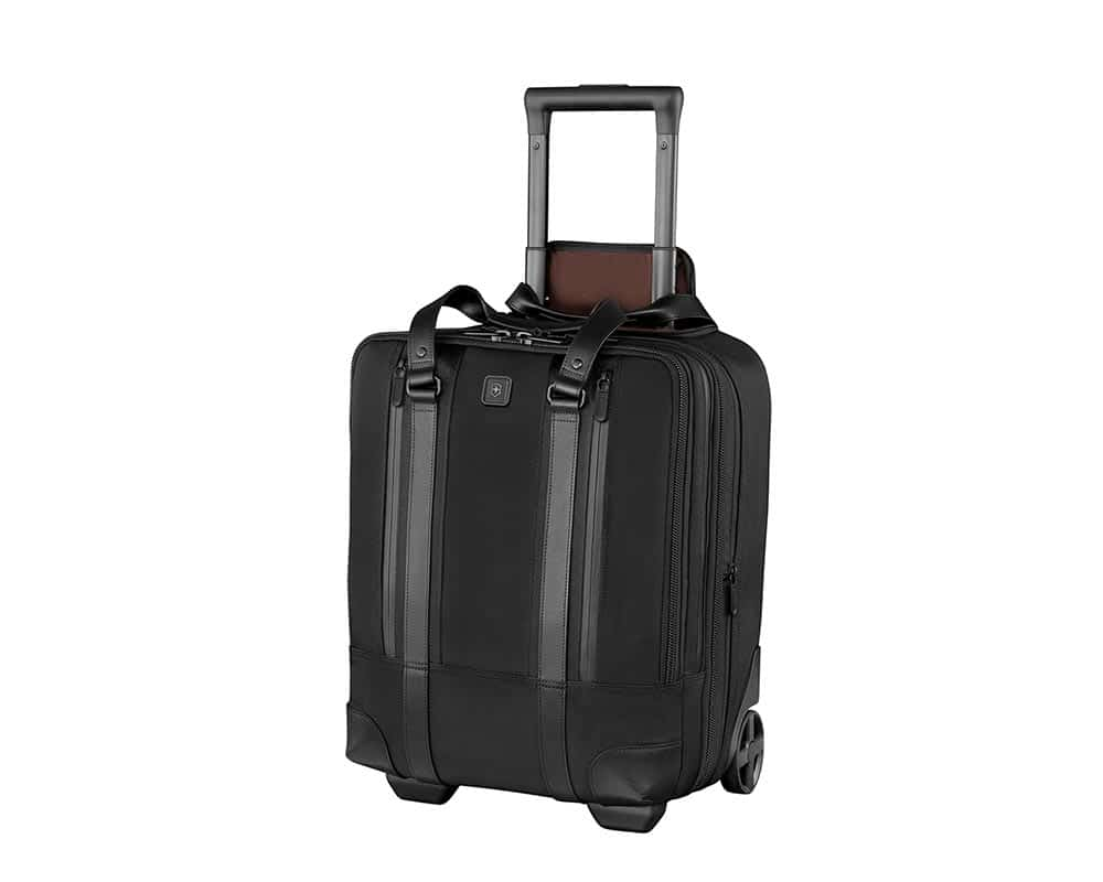 Black Lexicon Professional Century Vertical Expandable Wheeled Laptop Case