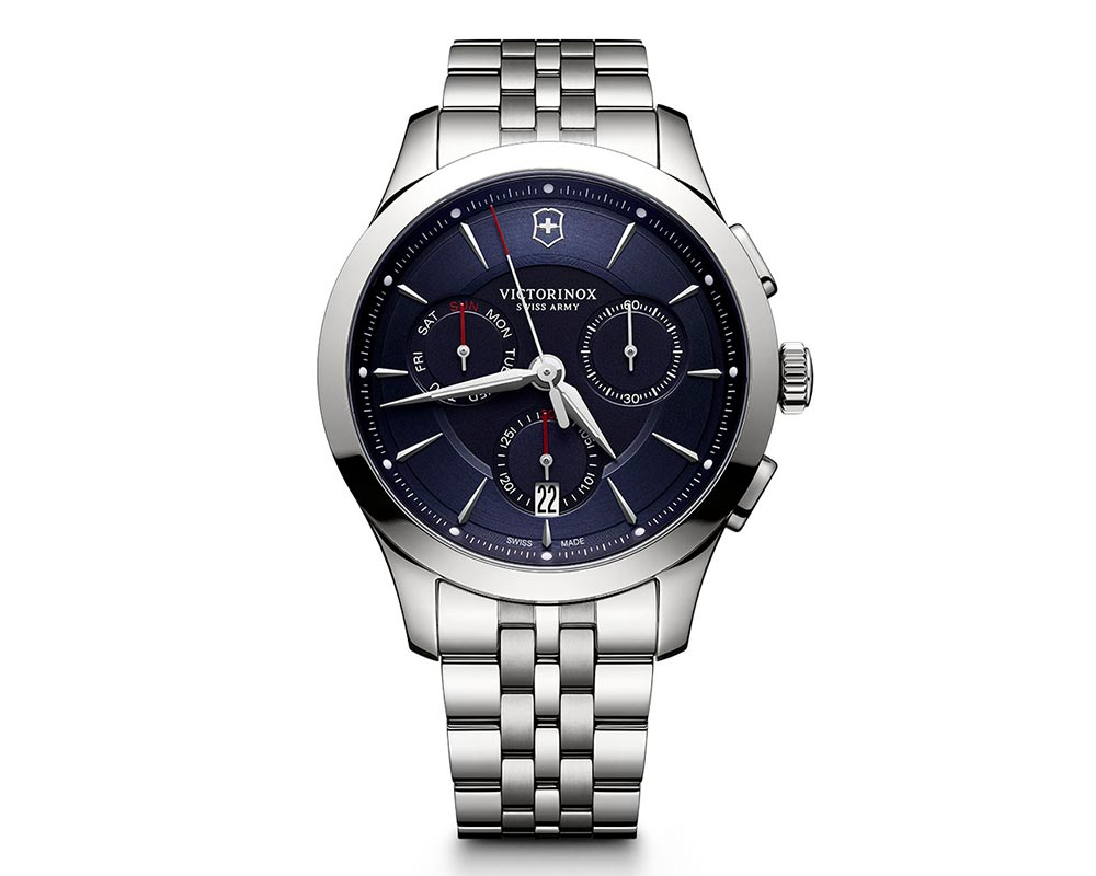 Stainless Steel Blue Index Dial Alliance Chronograph