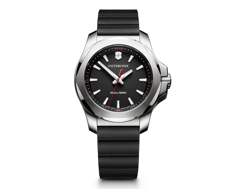 Stainless Steel Black Index Dial Inox V