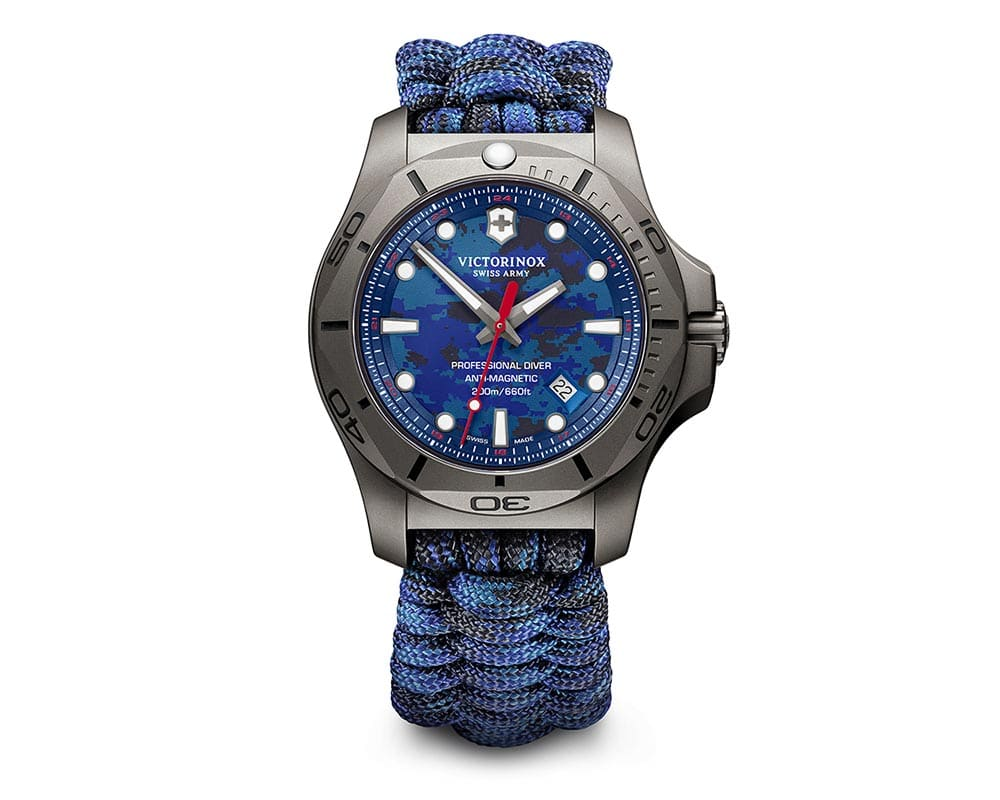 Titanium Blue Camouflage Index Dial Inox Professional Diver 3 Piece Box Set