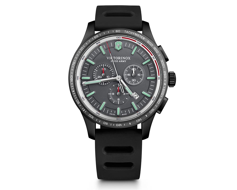 Stainless Steel / Black PVD Gray Index Dial Alliance Sport Chronograph