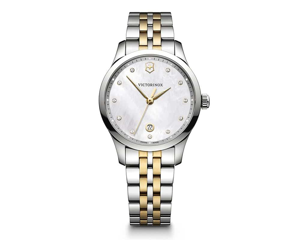 Two Tone Stainless Steel Mother Of Pearl Diamond Dial Alliance