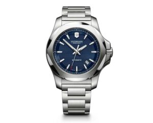 Stainless Steel Guilloche Blue Index Dial Inox Mechanical