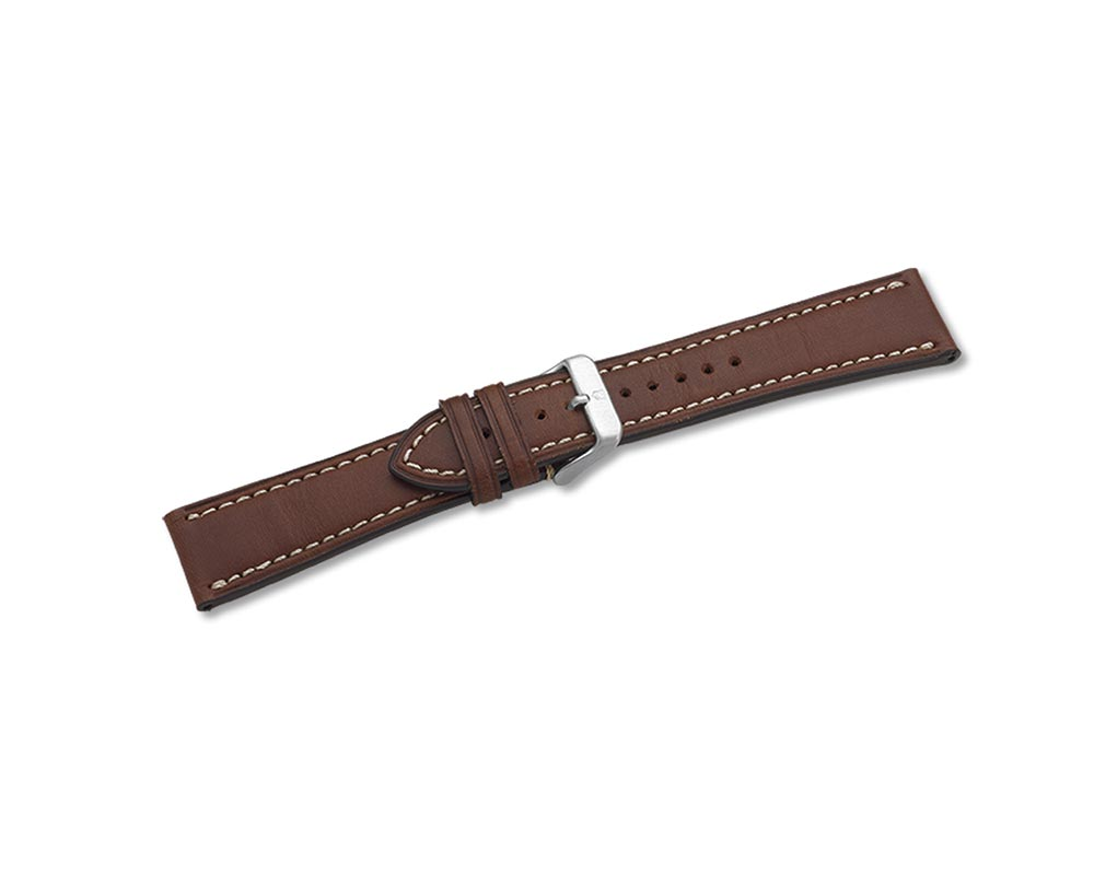 23mm Brown Leather Watch Strap