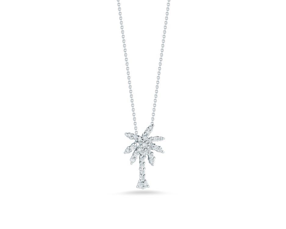 18Kt Diamond Palm Tree Pendant