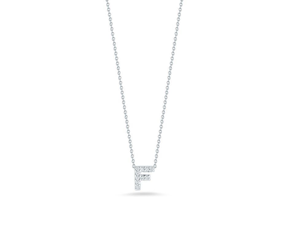 "Love Letter ""F"" Pendant with Diamonds"