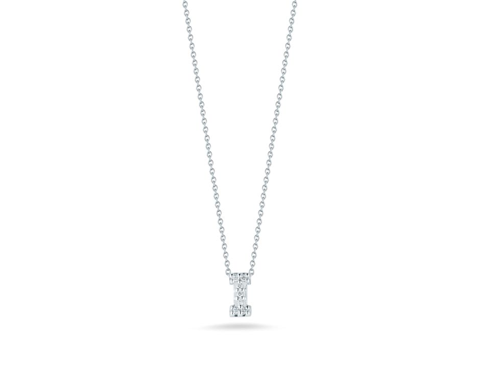 "Love Letter ""I"" Pendant with Diamonds"