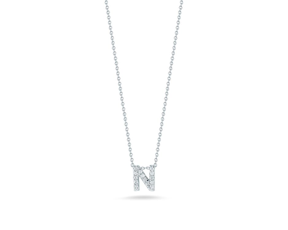 "Love Letter ""N"" Pendant with Diamonds"