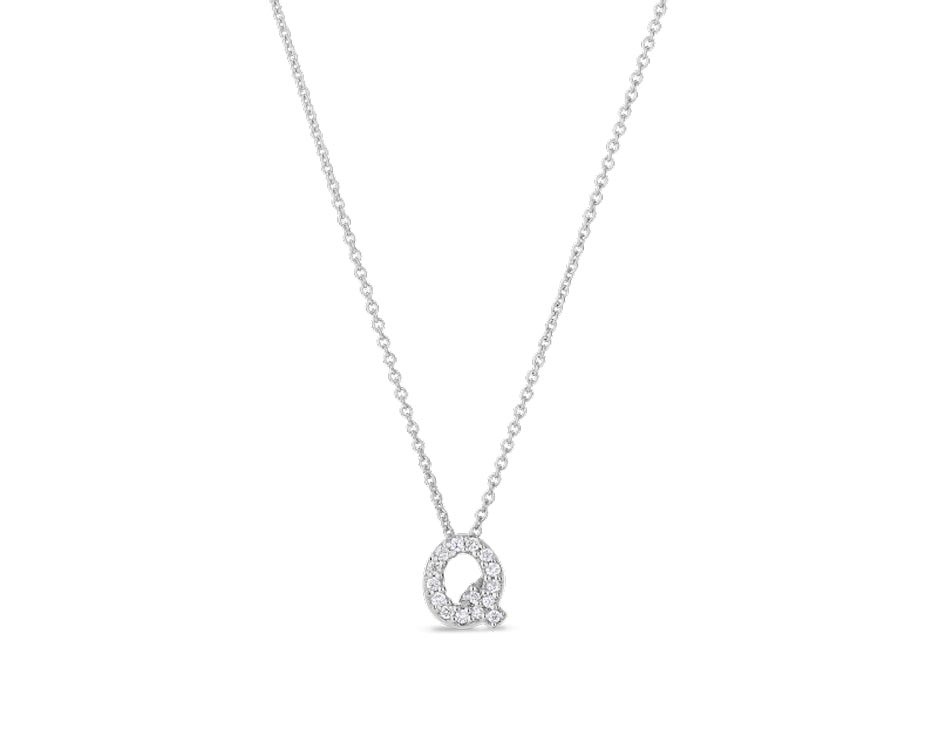 "Love Letter ""Q"" Pendant with Diamonds"