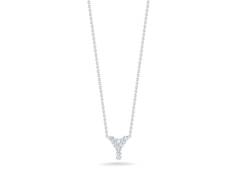 "Love Letter ""Y"" Pendant with Diamonds"