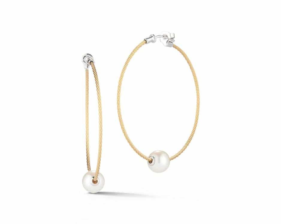 Yellow Stainless Steel Hoop Earrings