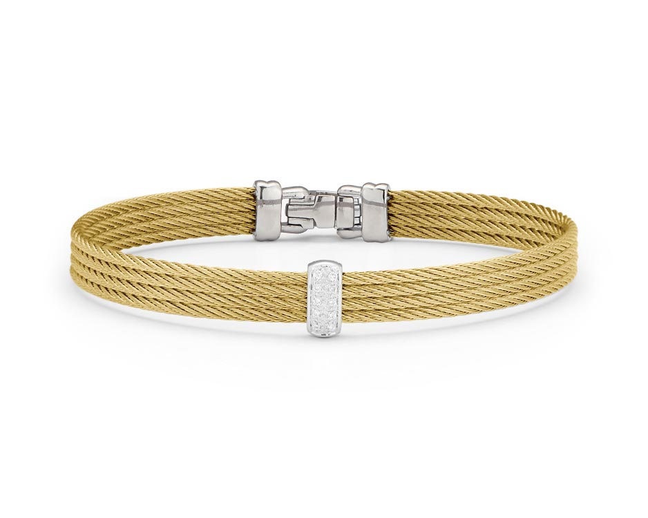 White & Yellow Stainless Steel Bracelet
