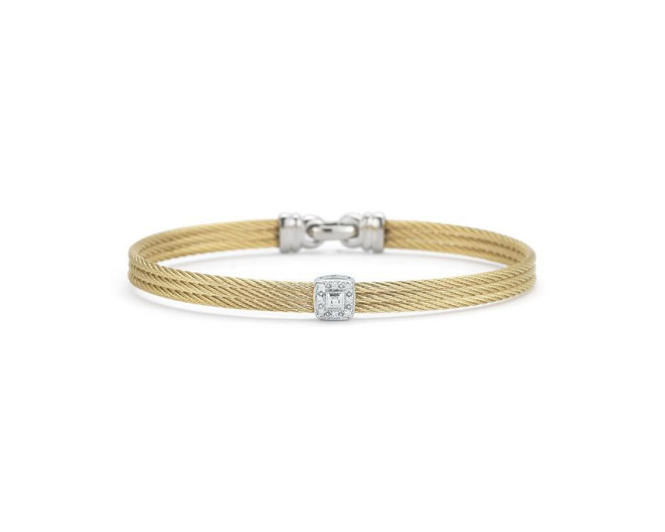 Two-Tone Stainless & 18K Bangle