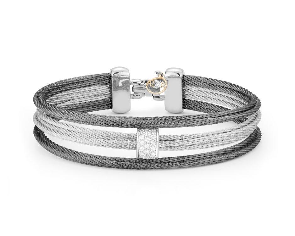 Stainless Steel & 18k Fashion Bangle