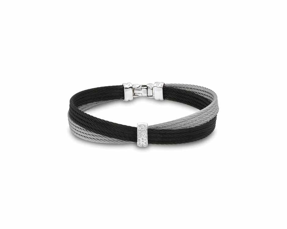 Black & Gray Stainless Steel Bangle