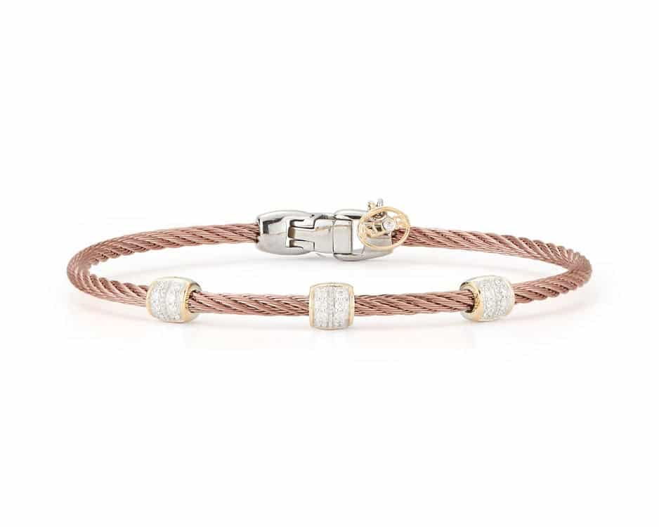 Bronze Stainless Steel Cable Bracelet