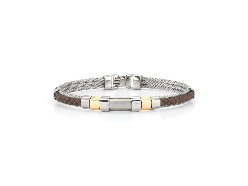 Gents Yellow 18K / Stainless Steel Bracelet